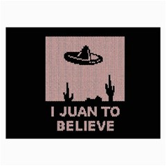 I Juan To Believe Ugly Holiday Christmas Black Background Collage Prints