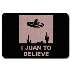 I Juan To Believe Ugly Holiday Christmas Black Background Large Doormat