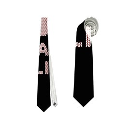 I Juan To Believe Ugly Holiday Christmas Black Background Neckties (Two Side)