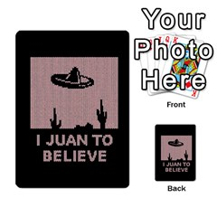 I Juan To Believe Ugly Holiday Christmas Black Background Multi-purpose Cards (Rectangle)