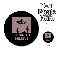 I Juan To Believe Ugly Holiday Christmas Black Background Multi-purpose Cards (Round)