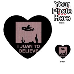 I Juan To Believe Ugly Holiday Christmas Black Background Multi Purpose Cards (heart)