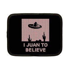 I Juan To Believe Ugly Holiday Christmas Black Background Netbook Case (Small)