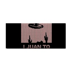 I Juan To Believe Ugly Holiday Christmas Black Background Hand Towel