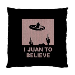 I Juan To Believe Ugly Holiday Christmas Black Background Standard Cushion Case (Two Sides)