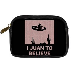 I Juan To Believe Ugly Holiday Christmas Black Background Digital Camera Cases