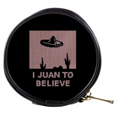 I Juan To Believe Ugly Holiday Christmas Black Background Mini Makeup Bags