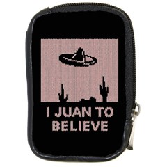I Juan To Believe Ugly Holiday Christmas Black Background Compact Camera Cases