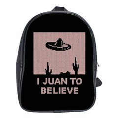 I Juan To Believe Ugly Holiday Christmas Black Background School Bags(large)