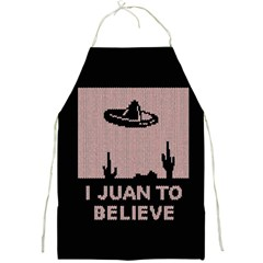 I Juan To Believe Ugly Holiday Christmas Black Background Full Print Aprons