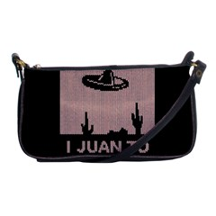 I Juan To Believe Ugly Holiday Christmas Black Background Shoulder Clutch Bags