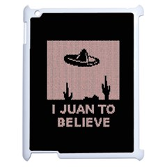 I Juan To Believe Ugly Holiday Christmas Black Background Apple iPad 2 Case (White)
