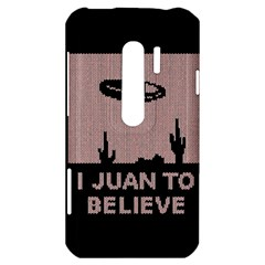 I Juan To Believe Ugly Holiday Christmas Black Background HTC Evo 3D Hardshell Case
