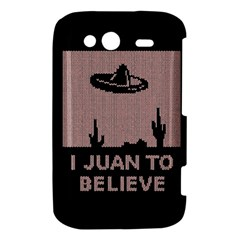 I Juan To Believe Ugly Holiday Christmas Black Background HTC Wildfire S A510e Hardshell Case