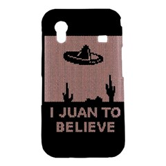 I Juan To Believe Ugly Holiday Christmas Black Background Samsung Galaxy Ace S5830 Hardshell Case