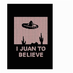 I Juan To Believe Ugly Holiday Christmas Black Background Small Garden Flag (Two Sides)