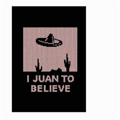 I Juan To Believe Ugly Holiday Christmas Black Background Large Garden Flag (two Sides)