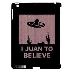 I Juan To Believe Ugly Holiday Christmas Black Background Apple iPad 3/4 Hardshell Case (Compatible with Smart Cover)