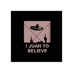 I Juan To Believe Ugly Holiday Christmas Black Background Acrylic Tangram Puzzle (4  X 4 )