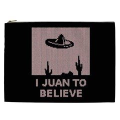 I Juan To Believe Ugly Holiday Christmas Black Background Cosmetic Bag (XXL)