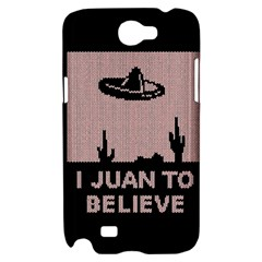 I Juan To Believe Ugly Holiday Christmas Black Background Samsung Galaxy Note 2 Hardshell Case