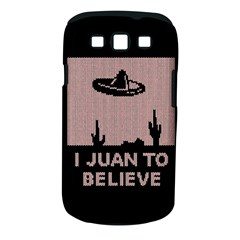 I Juan To Believe Ugly Holiday Christmas Black Background Samsung Galaxy S III Classic Hardshell Case (PC+Silicone)