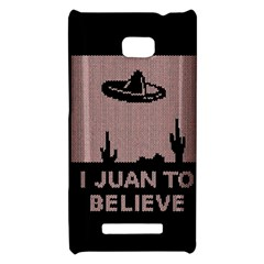 I Juan To Believe Ugly Holiday Christmas Black Background HTC 8X