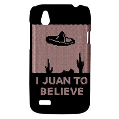I Juan To Believe Ugly Holiday Christmas Black Background HTC Desire V (T328W) Hardshell Case