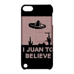 I Juan To Believe Ugly Holiday Christmas Black Background Apple iPod Touch 5 Hardshell Case with Stand