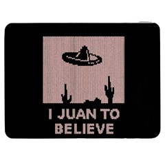 I Juan To Believe Ugly Holiday Christmas Black Background Samsung Galaxy Tab 7  P1000 Flip Case