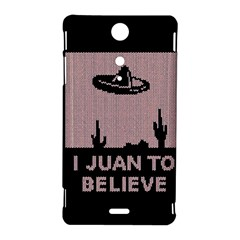 I Juan To Believe Ugly Holiday Christmas Black Background Sony Xperia TX