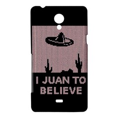 I Juan To Believe Ugly Holiday Christmas Black Background Sony Xperia T