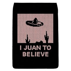 I Juan To Believe Ugly Holiday Christmas Black Background Flap Covers (S)