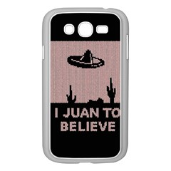 I Juan To Believe Ugly Holiday Christmas Black Background Samsung Galaxy Grand DUOS I9082 Case (White)