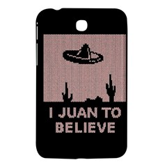I Juan To Believe Ugly Holiday Christmas Black Background Samsung Galaxy Tab 3 (7 ) P3200 Hardshell Case