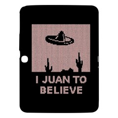 I Juan To Believe Ugly Holiday Christmas Black Background Samsung Galaxy Tab 3 (10.1 ) P5200 Hardshell Case