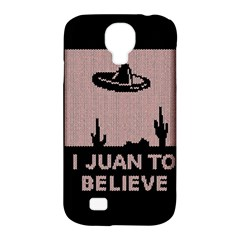 I Juan To Believe Ugly Holiday Christmas Black Background Samsung Galaxy S4 Classic Hardshell Case (PC+Silicone)
