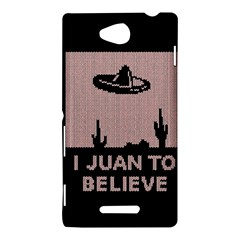 I Juan To Believe Ugly Holiday Christmas Black Background Sony Xperia C (S39H)