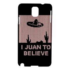 I Juan To Believe Ugly Holiday Christmas Black Background Samsung Galaxy Note 3 N9005 Hardshell Case