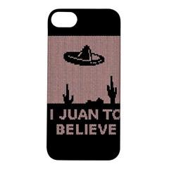 I Juan To Believe Ugly Holiday Christmas Black Background Apple iPhone 5S/ SE Hardshell Case