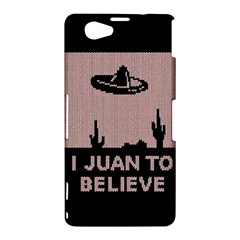 I Juan To Believe Ugly Holiday Christmas Black Background Sony Xperia Z1 Compact