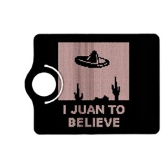 I Juan To Believe Ugly Holiday Christmas Black Background Kindle Fire Hd (2013) Flip 360 Case