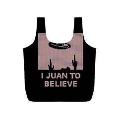I Juan To Believe Ugly Holiday Christmas Black Background Full Print Recycle Bags (s)