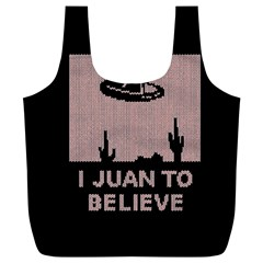 I Juan To Believe Ugly Holiday Christmas Black Background Full Print Recycle Bags (L)