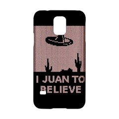 I Juan To Believe Ugly Holiday Christmas Black Background Samsung Galaxy S5 Hardshell Case