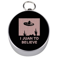 I Juan To Believe Ugly Holiday Christmas Black Background Silver Compasses