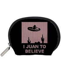 I Juan To Believe Ugly Holiday Christmas Black Background Accessory Pouches (Small)