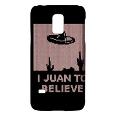 I Juan To Believe Ugly Holiday Christmas Black Background Galaxy S5 Mini