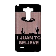 I Juan To Believe Ugly Holiday Christmas Black Background LG G3 Hardshell Case