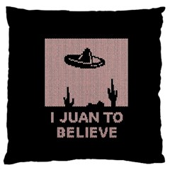 I Juan To Believe Ugly Holiday Christmas Black Background Standard Flano Cushion Case (two Sides)